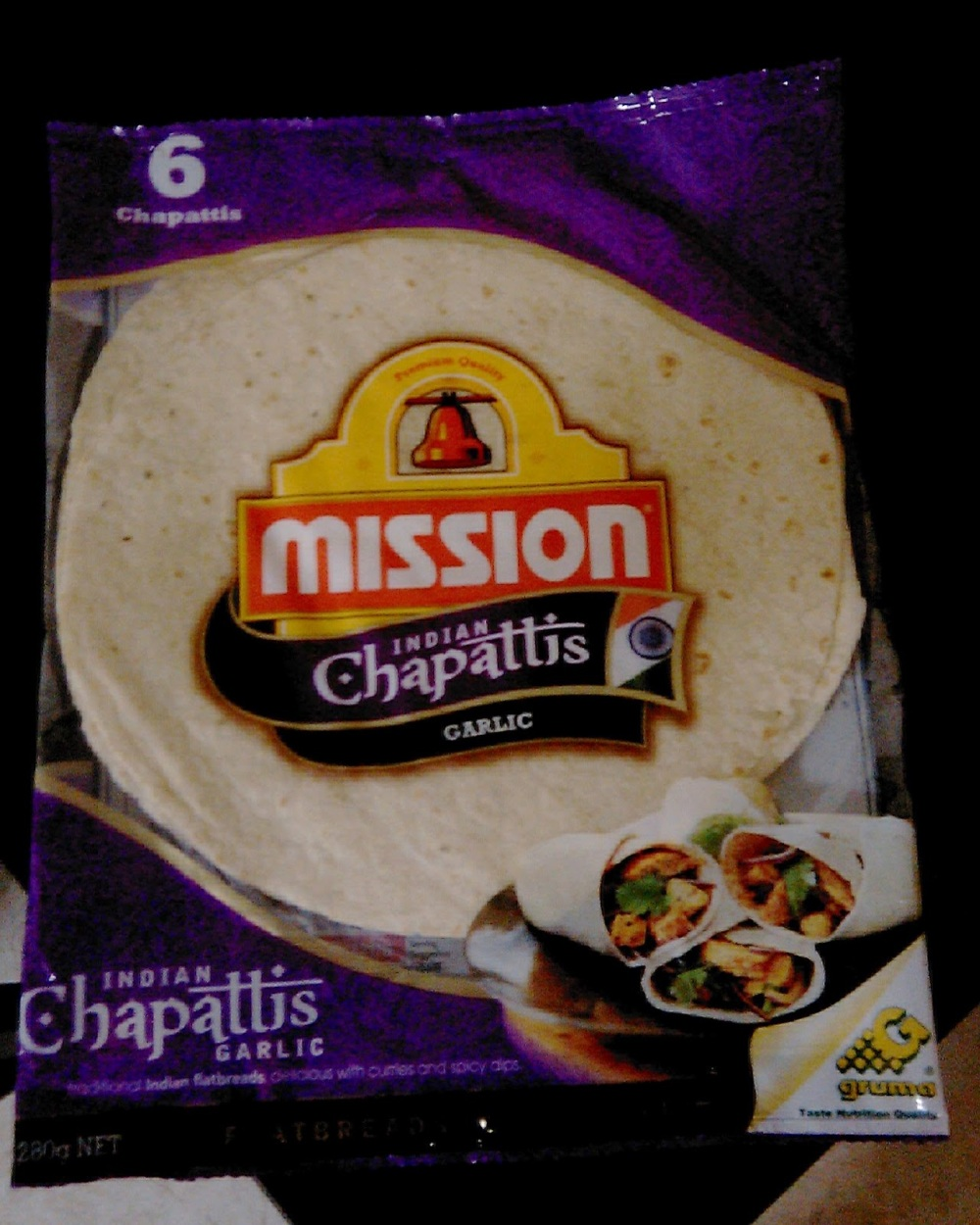 Garlic Chapattis by your favorite tortilla brand!