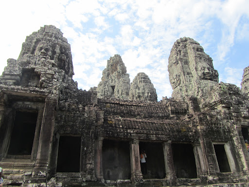 A few of the 216 faces on Bayon