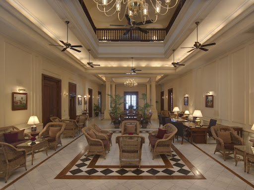 Lobby of the famous Strand Hotel