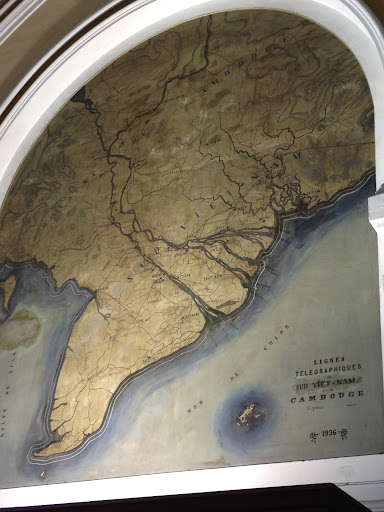Old map of the region in the post office.
