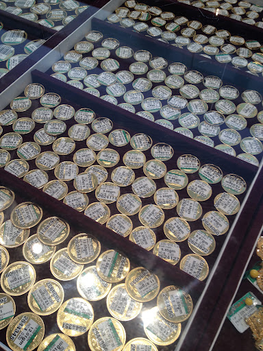 Gold coins. Ever seen so much pure gold at once?!