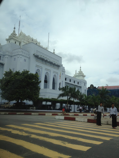 In downtown Yangon
