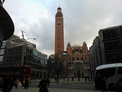 Westminster Cathedral (not to be confused with Westminster Abbey) – this is the view from my office in London