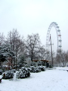 London in the snow