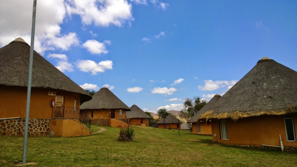 The huts!
