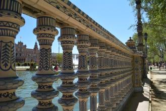 Intricate details at Plaza de Espana