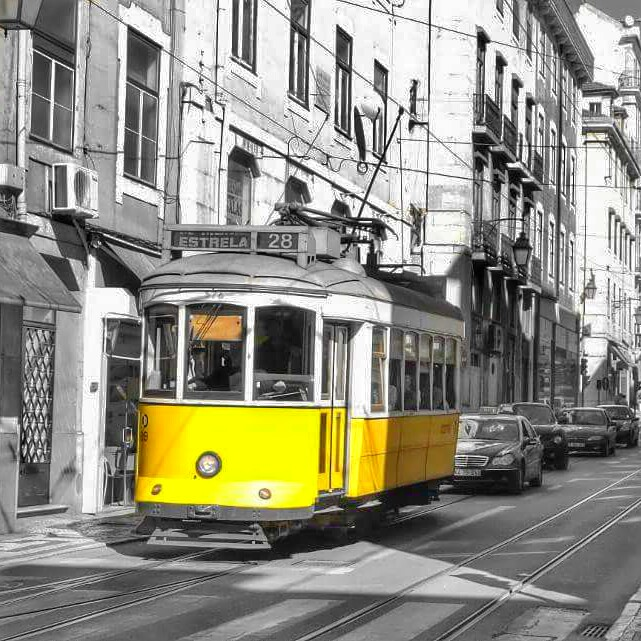 Tram car in Lisbon, Portugal