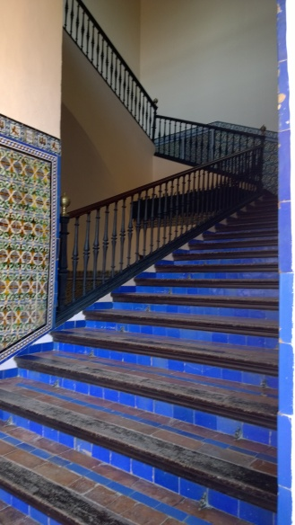 Indigo steps at Real Alcazar - Sevilla, Spain