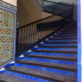 Indigo steps at Real Alcazar - Sevilla, Spain