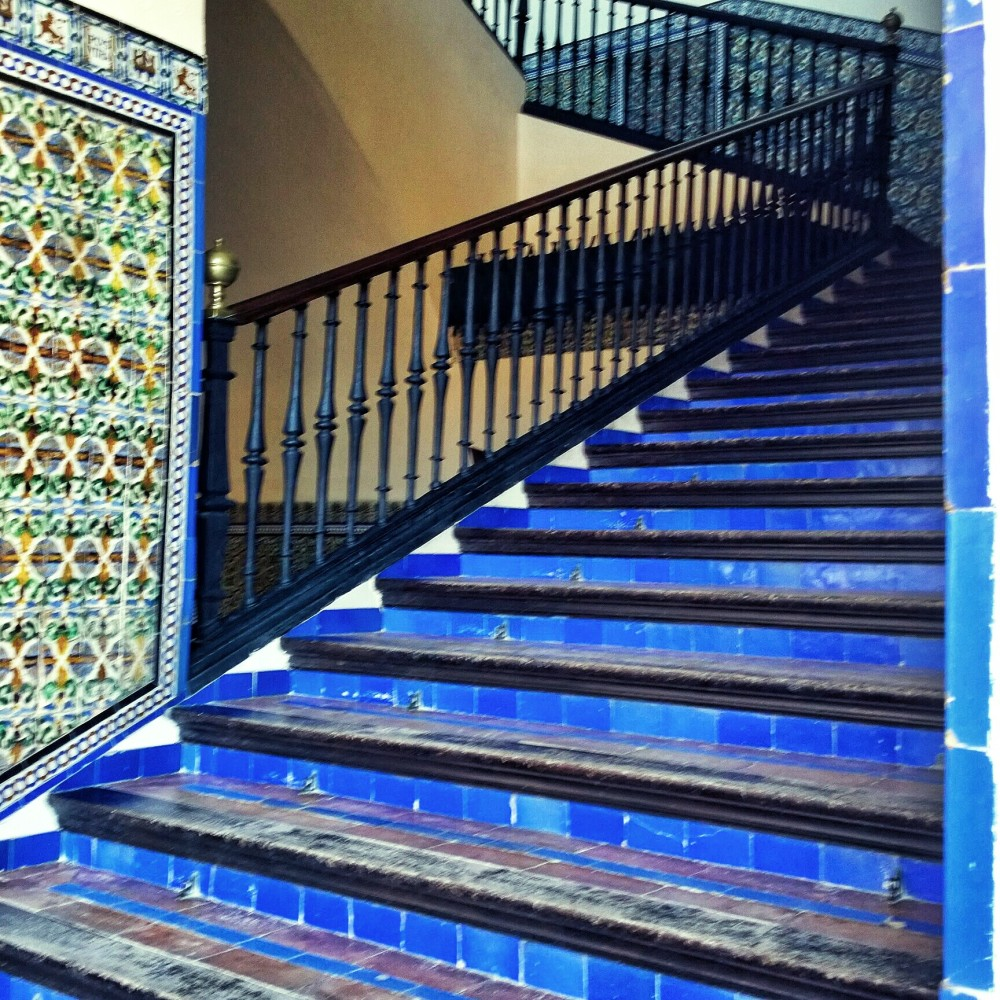 Indigo steps in Seville, Spain