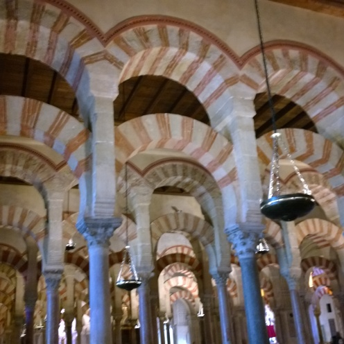 Candy striped columns at the Mezquita