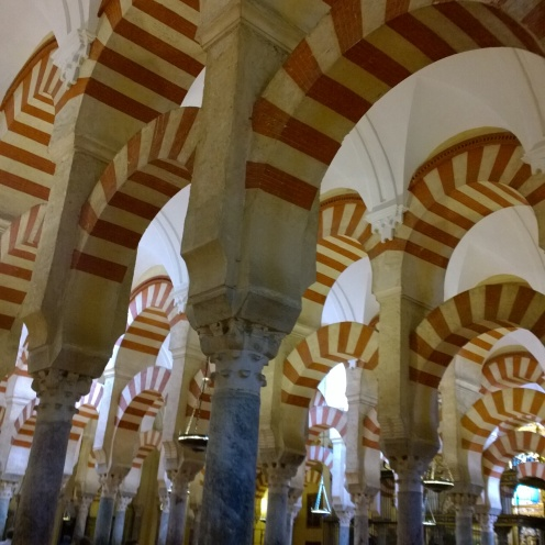 Hundreds of columns at the Mezquita