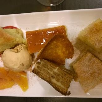 Dessert platter at Bodega Mezquita