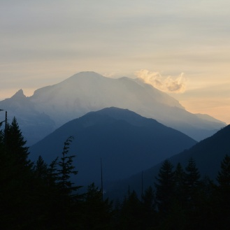 Sunset over Mt. Rainer
